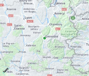 Area of taxi rate Grenoble