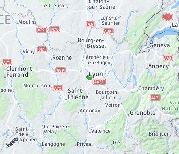 Area of taxi rate Villeurbanne