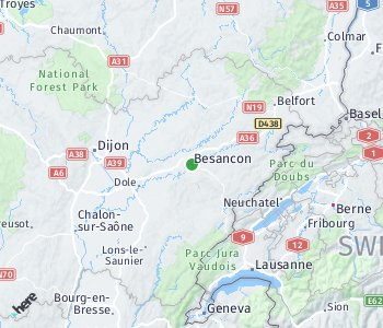 Area of taxi rate Besancon