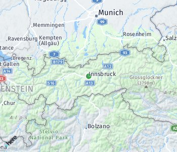 Area of taxi rate Innsbruck