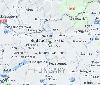 Area of taxi rate Budapest