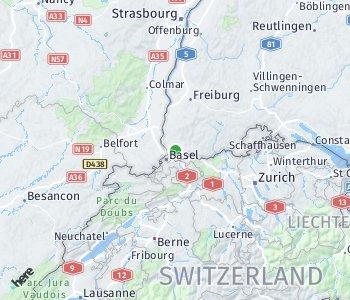 Area of taxi rate Lörrach