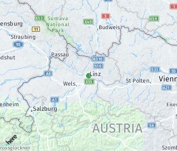 Lage des Taxitarifgebietes Linz