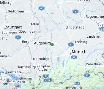 Area of taxi rate Augsburg