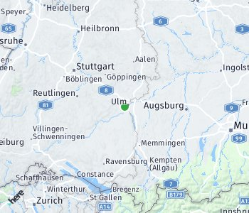 Area of taxi rate Ulm