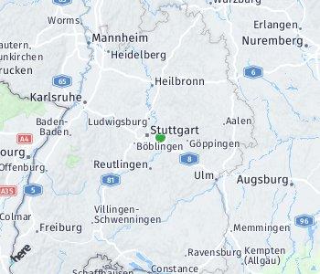 Lage des Taxitarifgebietes Esslingen