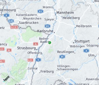 Area of taxi rate Baden-Baden