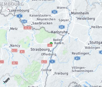 Area of taxi rate Strasbourg
