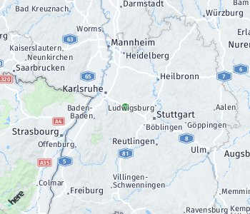 Area of taxi rate Pforzheim