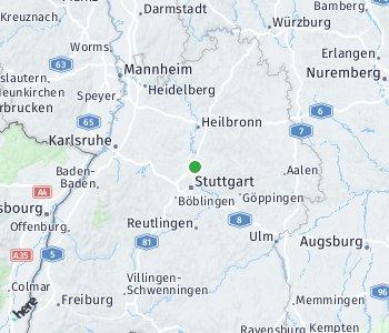 Lage des Taxitarifgebietes Ludwigsburg