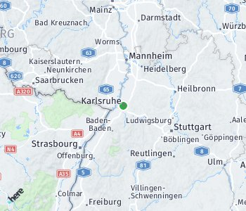 <?php echo Area of taxi rate Karlsruhe; ?>