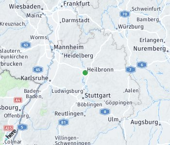 Area of taxi rate Heilbronn
