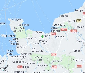 Area of taxi rate Caen