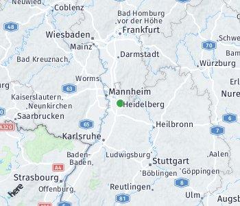Area of taxi rate Rhein-Neckar Kreis