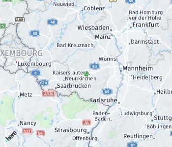 Area of taxi rate Landkreis Kaiserslautern