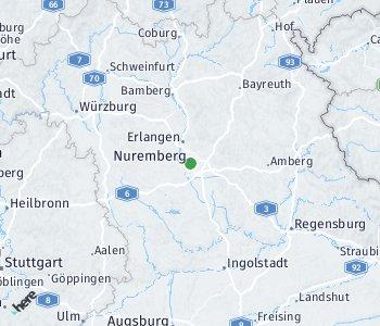 Lage des Taxitarifgebietes Nürnberg