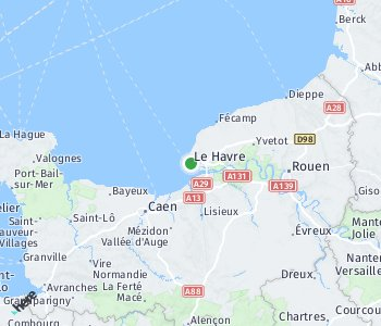 Area of taxi rate Le Havre
