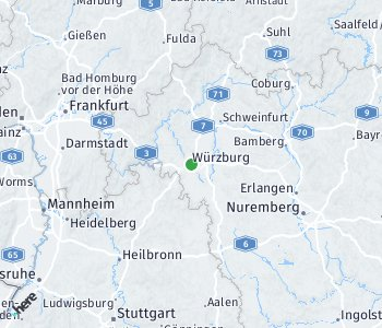 Area of taxi rate Würzburg