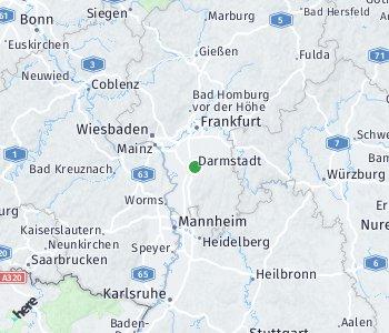 Lage des Taxitarifgebietes Darmstadt