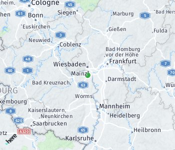 Area of taxi rate Mainz