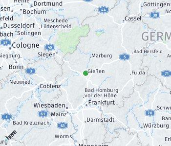 Lage des Taxitarifgebietes Gießen