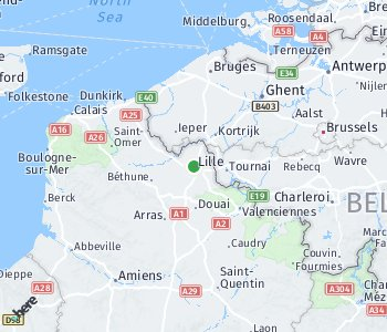 Area of taxi rate Lille