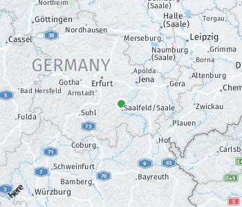 Area of taxi rate Saalfeld-Rudolstadt