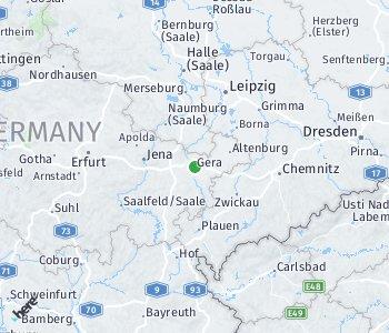 Lage des Taxitarifgebietes Gera