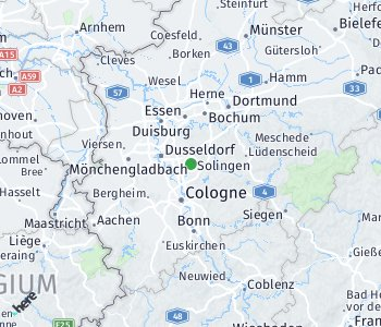 Area of taxi rate Solingen