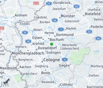 Lage des Taxitarifgebietes Ennepe-Ruhr
