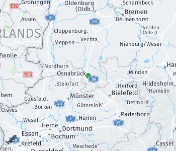 Lage des Taxitarifgebietes Osnabrück