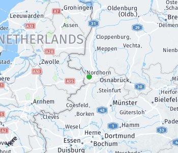 Area of taxi rate Grafschaft Bentheim