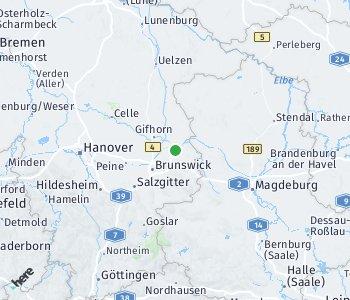 Lage des Taxitarifgebietes Wolfsburg