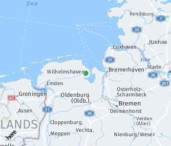 Area of taxi rate Wilhelmshaven