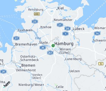 Area of taxi rate Hamburg