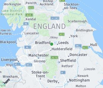 Lage des Taxitarifgebietes Bradford