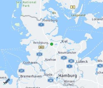Area of taxi rate Rendsburg-Eckernförde