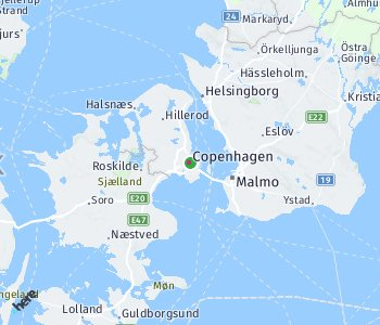 Area of taxi rate Copenhagen