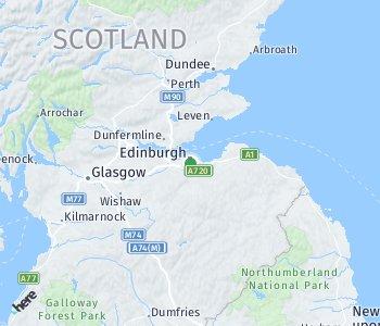 Lage des Taxitarifgebietes Edinburgh