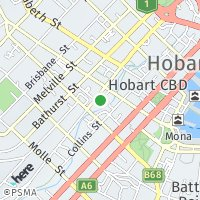 Hobart Office map