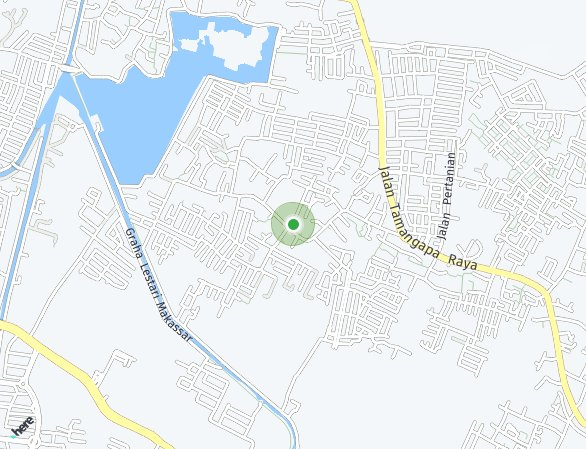 Peta lokasi Bumi Pratama Residence