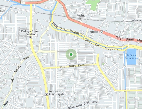 Peta lokasi The Crest West Vista Apartemen at Puri