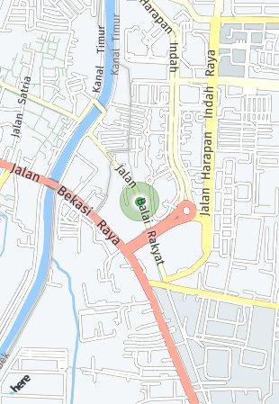 Peta lokasi Alindra at Kota Harapan Indah