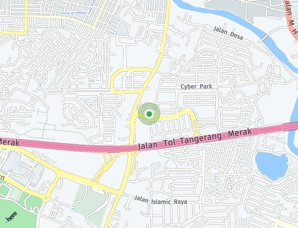 Peta lokasi Cendana Parc