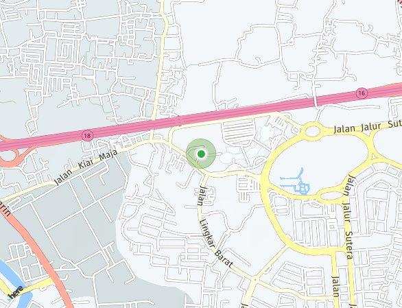Peta lokasi The Lana Apartemen