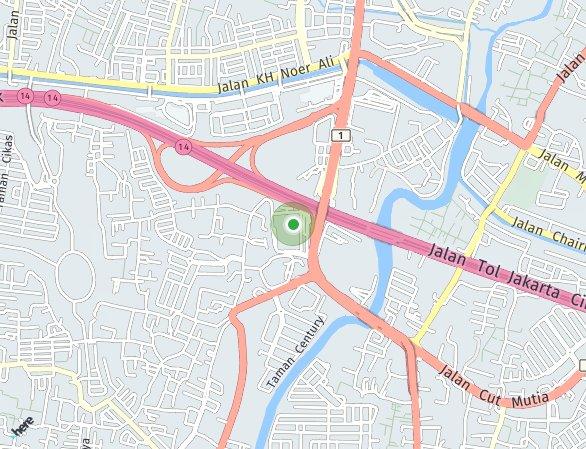 Peta lokasi Pakuwon Residence Bekasi