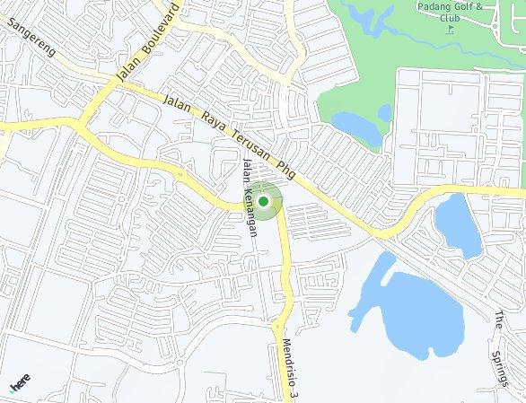 Peta lokasi Paramount Land - Alma