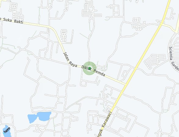 Peta lokasi Golden Stone