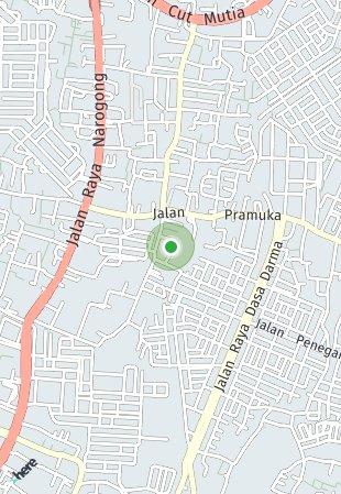 Peta lokasi De Minimalist Bekasi
