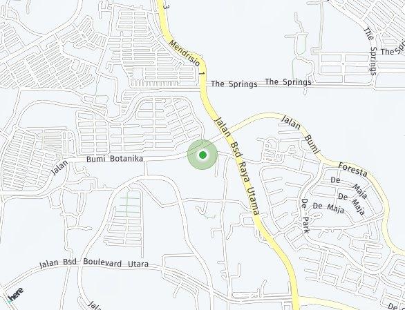 Peta lokasi BSD City – Greenwich Park